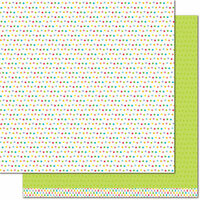 Lawn Fawn - Really Rainbow Collection - Christmas - 12 x 12 Double Sided Paper - Green Holly
