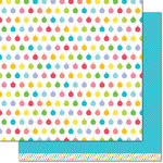 Lawn Fawn - Really Rainbow Collection - Christmas - 12 x 12 Double Sided Paper - Icy Blue