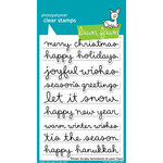 Lawn Fawn - Christmas - Clear Photopolymer Stamps - Winter Scripty Sentiments