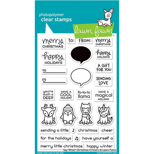 Lawn Fawn - Say What? Christmas critters stamp set
