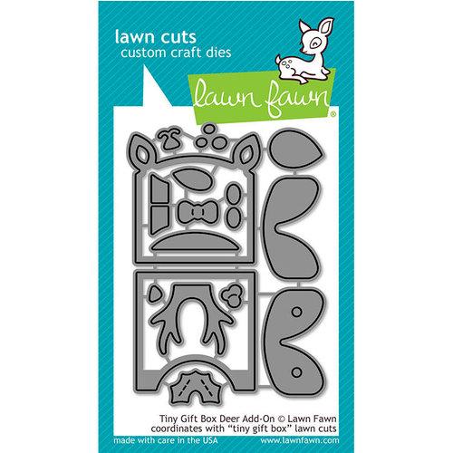 Lawn Fawn - Lawn Cuts - Dies - Tiny Gift Box - Deer Add-On