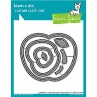 Lawn Fawn - Lawn Cuts - Dies - Outside In Stitched - Apple Stackables
