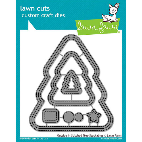 Lawn Fawn - Lawn Cuts - Dies - Outside In Stitched - Christmas Tree Stackables