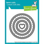 Lawn Fawn - Lawn Cuts - Dies - Reverse Stitched - Scalloped Circle Windows