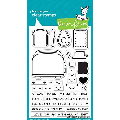 Lawn Fawn - Clear Photopolymer Stamps - Let's Toast