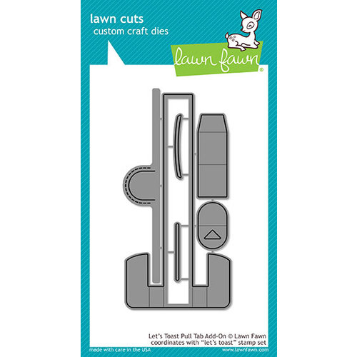Lawn Fawn - Lawn Cuts - Dies - Let's Toast Pull Tab Add-On