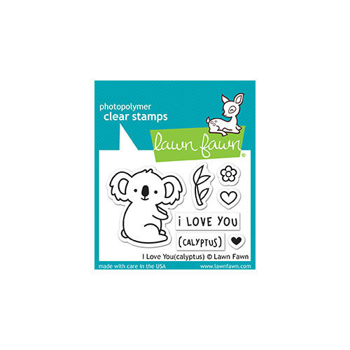 Lawn Fawn - Clear Photopolymer Stamps - I Love Youcalyptus