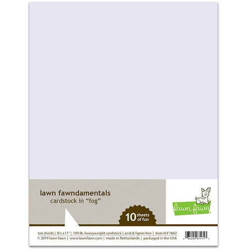 Lawn Fawn - 8.5 x 11 Cardstock - Fog - 10 Pack