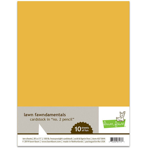 Lawn Fawn 10 pack No 2 Pencil Cardstock