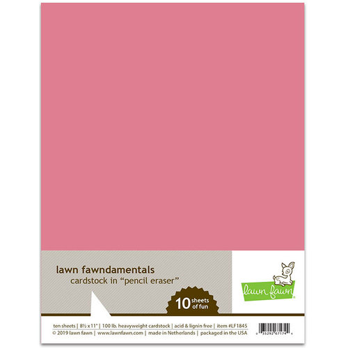 Lawn Fawn - 8.5 x 11 Cardstock - Pencil Eraser - 10 Pack