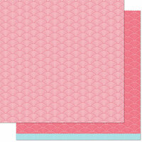 Lawn Fawn - Really Rainbow Scallops Collection - 12 x 12 Double Sided Paper - Phoenix Feather