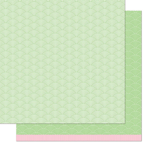 Lawn Fawn - Really Rainbow Scallops Collection - 12 x 12 Double Sided Paper - Dragon Scales
