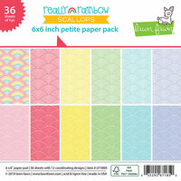 Lawn Fawn - Really Rainbow Scallops Collection - 6 x 6 Petite Paper Pack