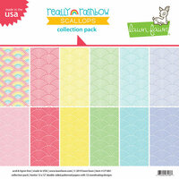 Lawn Fawn - Really Rainbow Scallops Collection - 12 x 12 Collection Pack