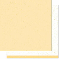 Lawn Fawn - Spiffy Speckles Collection - 12 x 12 Double Sided Paper - Ripe Banana