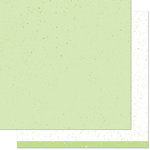 Lawn Fawn - Spiffy Speckles Collection - 12 x 12 Double Sided Paper - Pesto