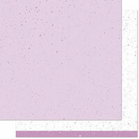 Lawn Fawn - Spiffy Speckles Collection - 12 x 12 Double Sided Paper - Blueberry Smoothie