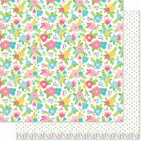 Lawn Fawn - Spring Fling Collection - 12 x 12 Double Sided Paper - Rebecca