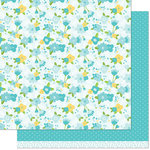 Lawn Fawn - Spring Fling Collection - 12 x 12 Double Sided Paper - Julia