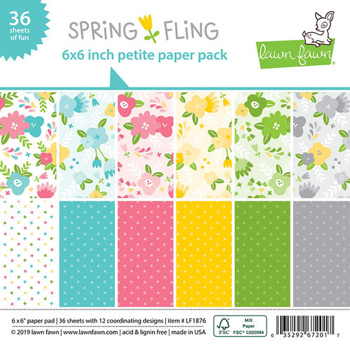 Lawn Fawn - Spring Fling Collection - 6 x 6 Petite Paper Pack