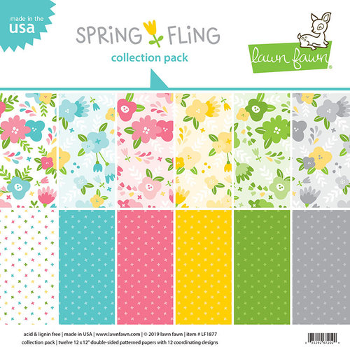 Lawn Fawn - Spring Fling Collection - 12 x 12 Collection Pack