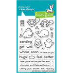 Lawn Fawn - Clear Photopolymer Stamps - Get Well Before and Afters