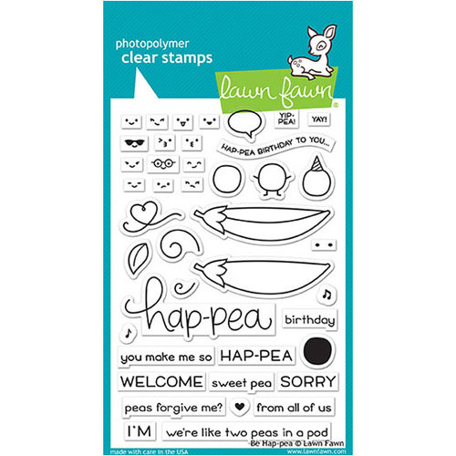 Lawn Fawn - Clear Photopolymer Stamps - Be Hap-pea