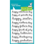 Lawn Fawn - Clear Photopolymer Stamps - Celebration Scripty Sentiments
