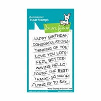 Lawn Fawn - Clear Photopolymer Stamps - Wavy Sentiments