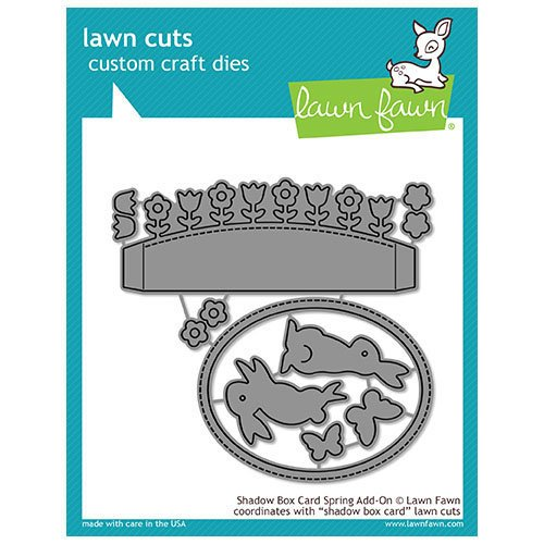Lawn Fawn - Lawn Cuts - Dies - Shadow Box Card Spring Add-On