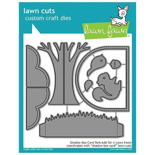 Lawn Fawn - Lawn Cuts - Dies - Shadow Box Card Park Add-On