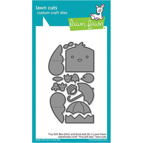 Lawn Fawn - Lawn Cuts - Dies - Tiny Gift Box Chick and Duck Add-On