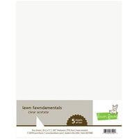 Lawn Fawn - 8.5 x 11 - Specialty Clear Acetate - 5 Pack