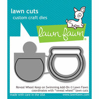Lawn Fawn - Lawn Cuts - Dies - Reveal Wheel Keep on Swimming Add-On