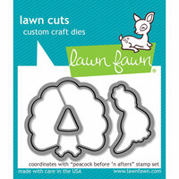Lawn Fawn - Lawn Cuts - Dies - Peacock Before 'n Afters