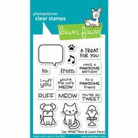 Lawn Fawn - Clear Photopolymer Stamps - Say What Pets