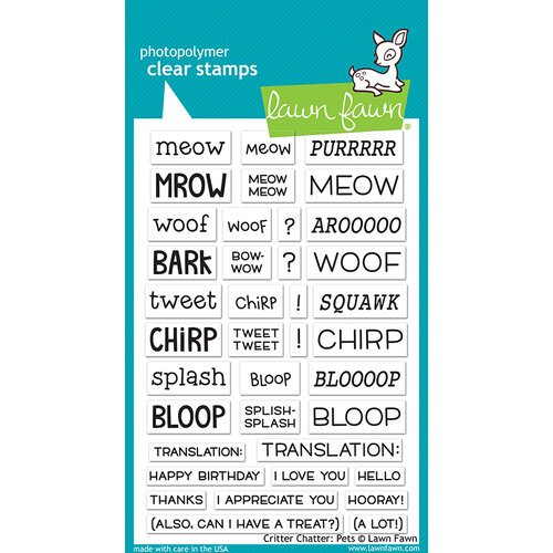 Lawn Fawn - Clear Photopolymer Stamps - Critter Chatter Pets