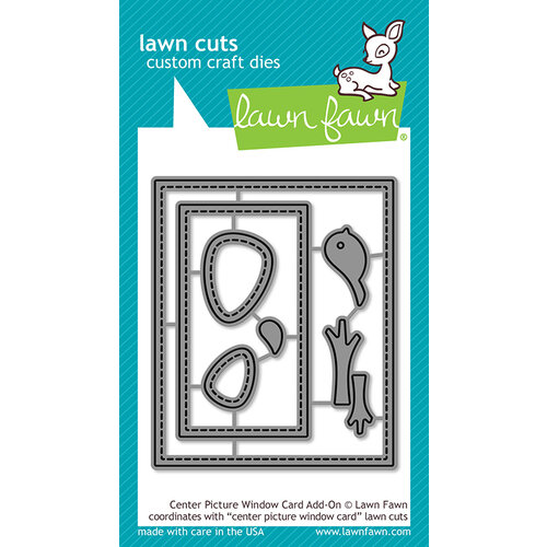 Lawn Fawn - Lawn Cuts - Dies - Center Picture Window Card Add-On