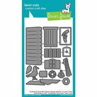 Lawn Fawn - Lawn Cuts - Dies - Scalloped Treat Box Beach House Add-On