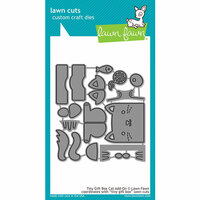 Lawn Fawn - Lawn Cuts - Dies - Tiny Gift Box Cat Add-On