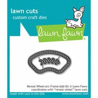 Lawn Fawn - Lawn Cuts - Dies - Reveal Wheel Arc Frame Add-On