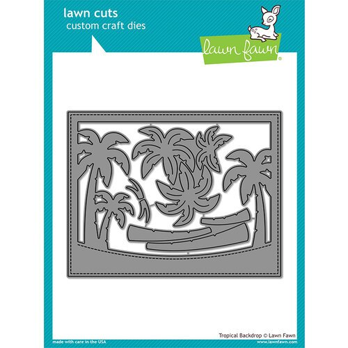 Lawn Fawn - Lawn Cuts - Dies - Tropical Backdrop
