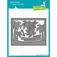 Lawn Fawn - Lawn Cuts - Dies - Tropical Backdrop