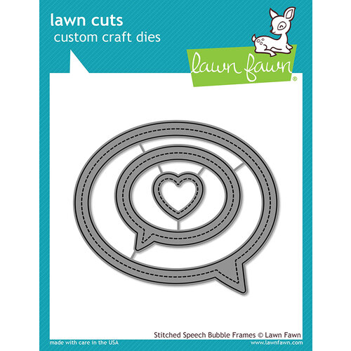 Lawn Fawn - Lawn Cuts - Dies - Stitched Speech Bubble Frames