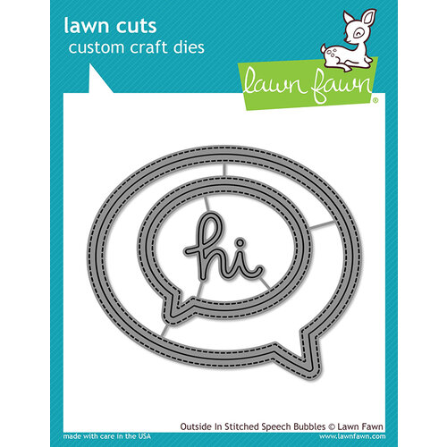Lawn Fawn - Lawn Cuts - Dies - Outside In Stitched Speech Bubbles