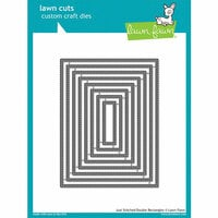 Lawn Fawn - Lawn Cuts - Dies - Just Stitching Double Rectangles
