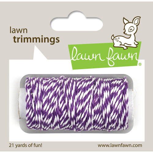 Lawn Fawn - Lawn Trimmings - Bakers Twine Spool - Eggplant Cord