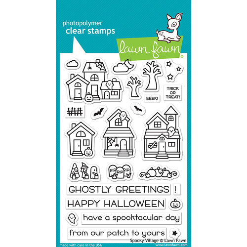 Lawn Fawn - Halloween - Clear Photopolymer Stamps - Spooky Village