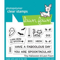 Lawn Fawn - Clear Photopolymer Stamps - Tiny Halloween