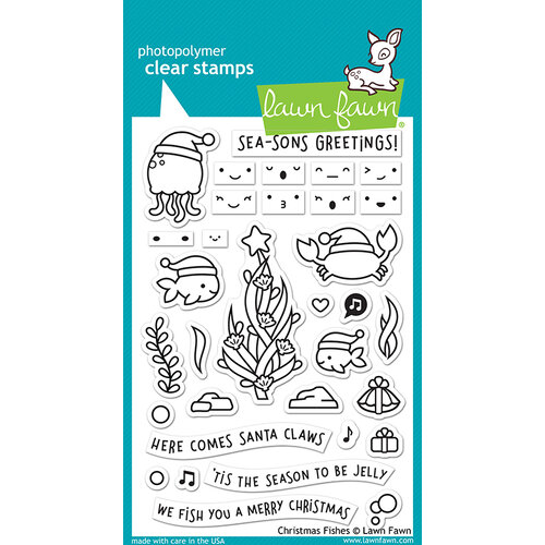 Lawn Fawn - Clear Photopolymer Stamps - Christmas Fishes
